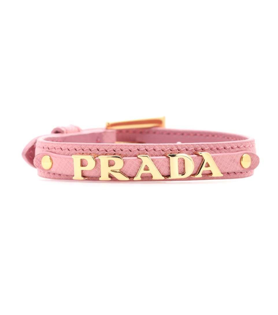 05b13cbd12121 PRADA Leather bracelet.  prada