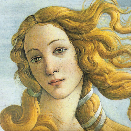 Face Of Venus From The Masterpiece The Birth Of Venus By Sandro