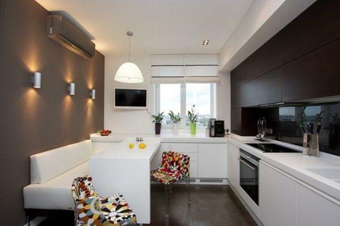 Am nager une petite cuisine 40 id es pour le design magnifique cuisine - Mini cuisine equipee ...
