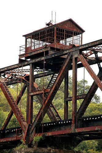 Warren truss bridge over Ocmulgee River, in Telfair and Jeff Davis Counties, GA.