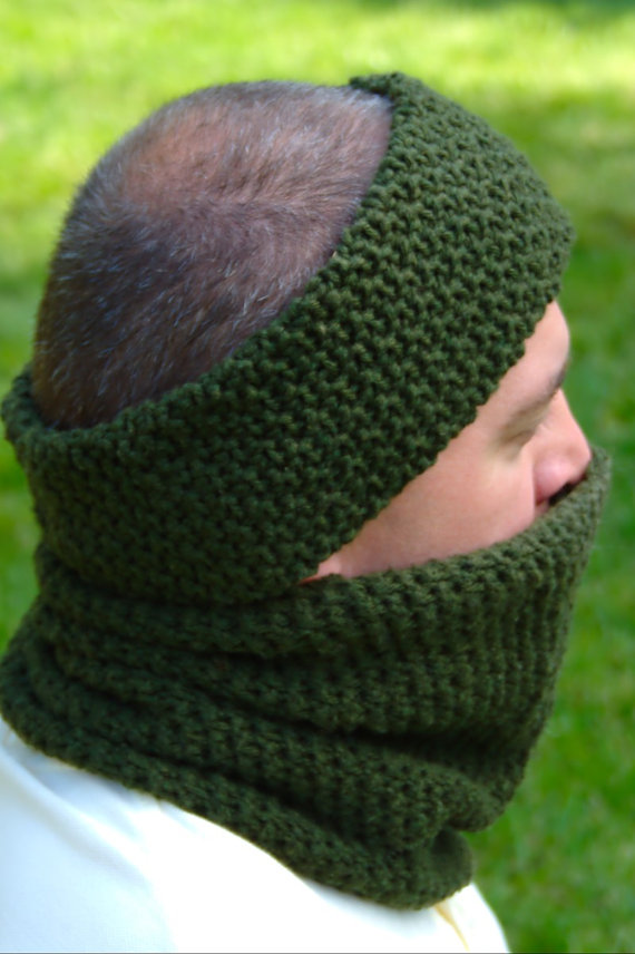 Crochet Pattern Mens Ear Warmer Pattern Mens Neck Warmer Pattern