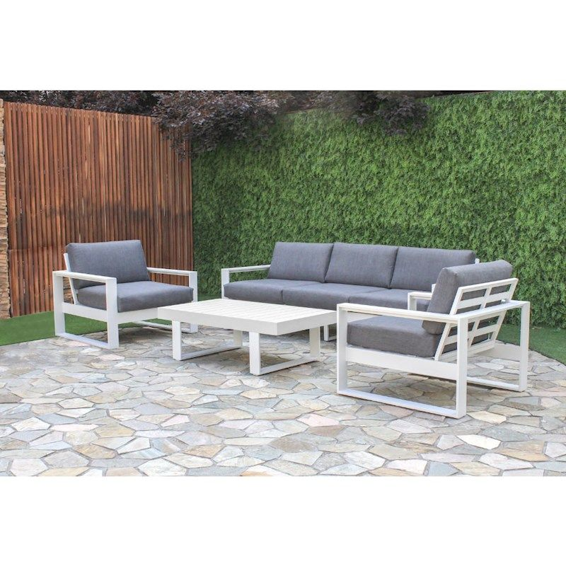 Manly 4Piece Aluminium Outdoor Lounge Setting Outdoor