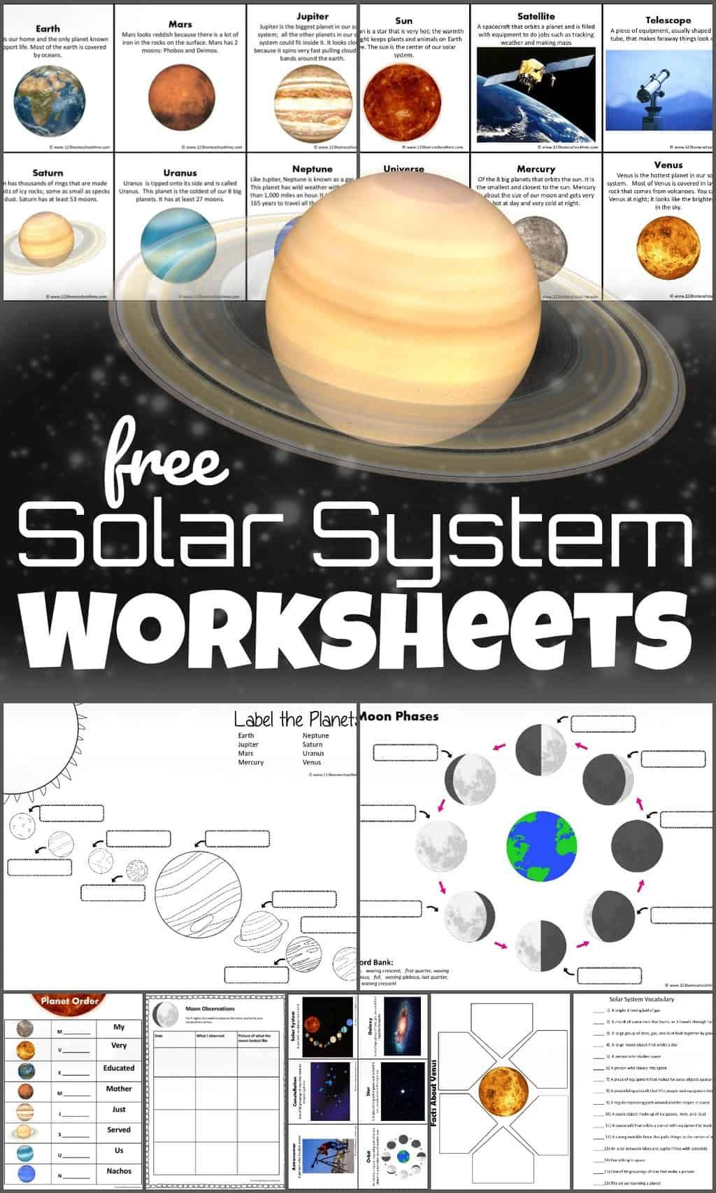 Free Solar System Worksheets In