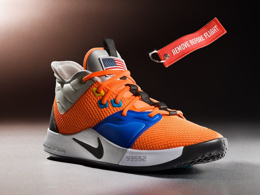 93ab25b9c22 Nike PG 3 NASA (CI2666-800) in Total Orange