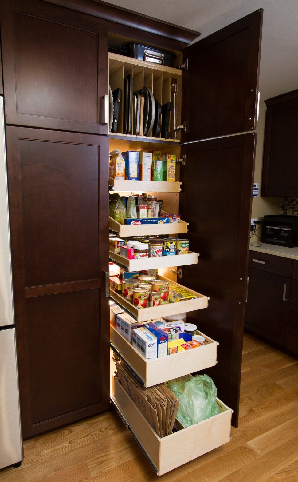 Kitchen Oak Kitchen Pantry Freestanding Pantry Small