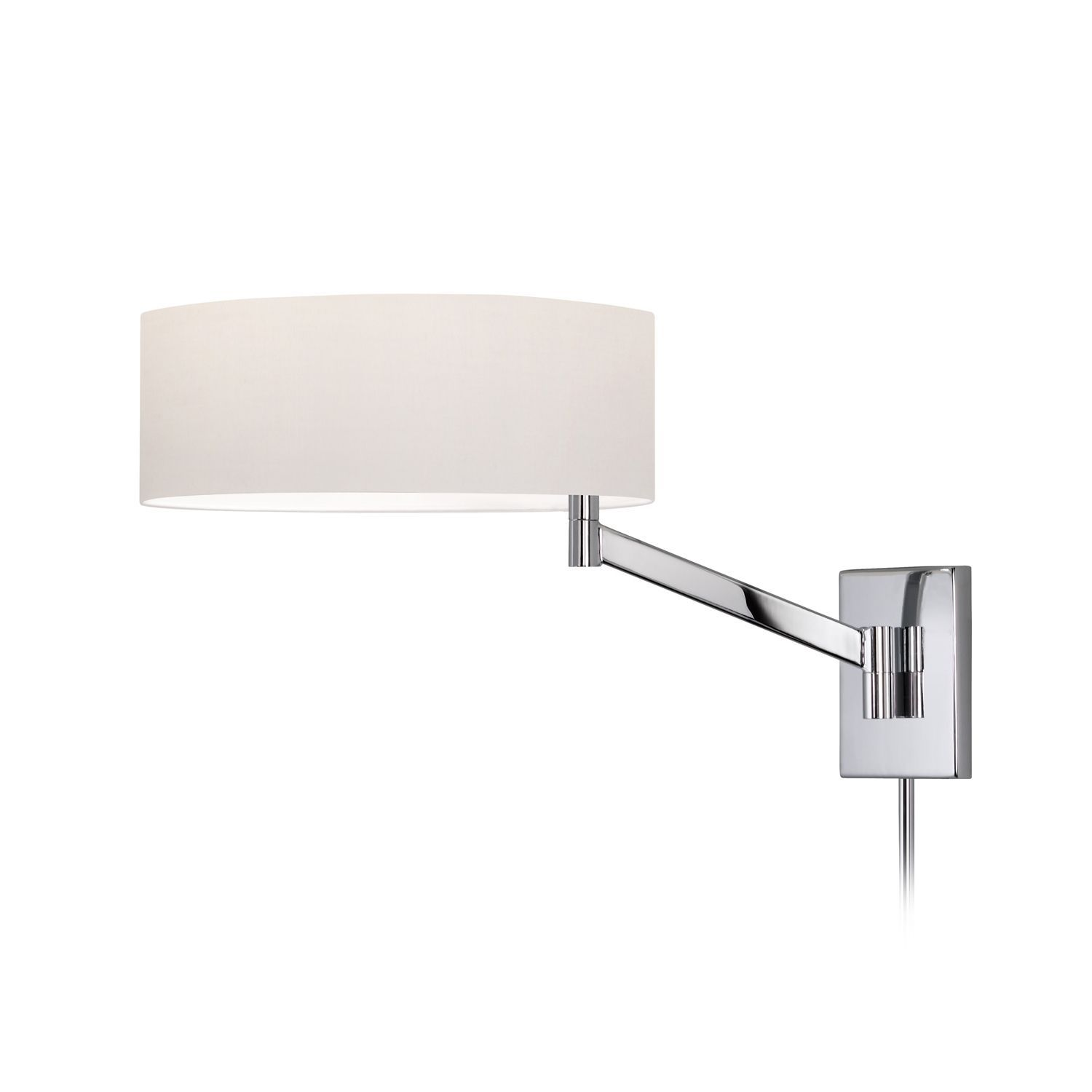 Perch 1-Light Swing Arm Wall Lamp comes in a polished chrome and a ...
