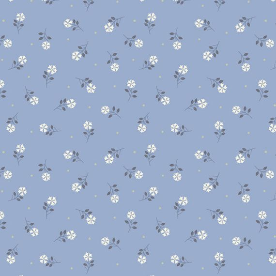 Blue Tiny Flower 1 4 Flo S Little Flowers Lewis And Irene Fabrics By The Yard Aesthetic Wallpapers Flower Phone Wallpaper Cute Patterns Wallpaper Blue flower wallpaper cartoon