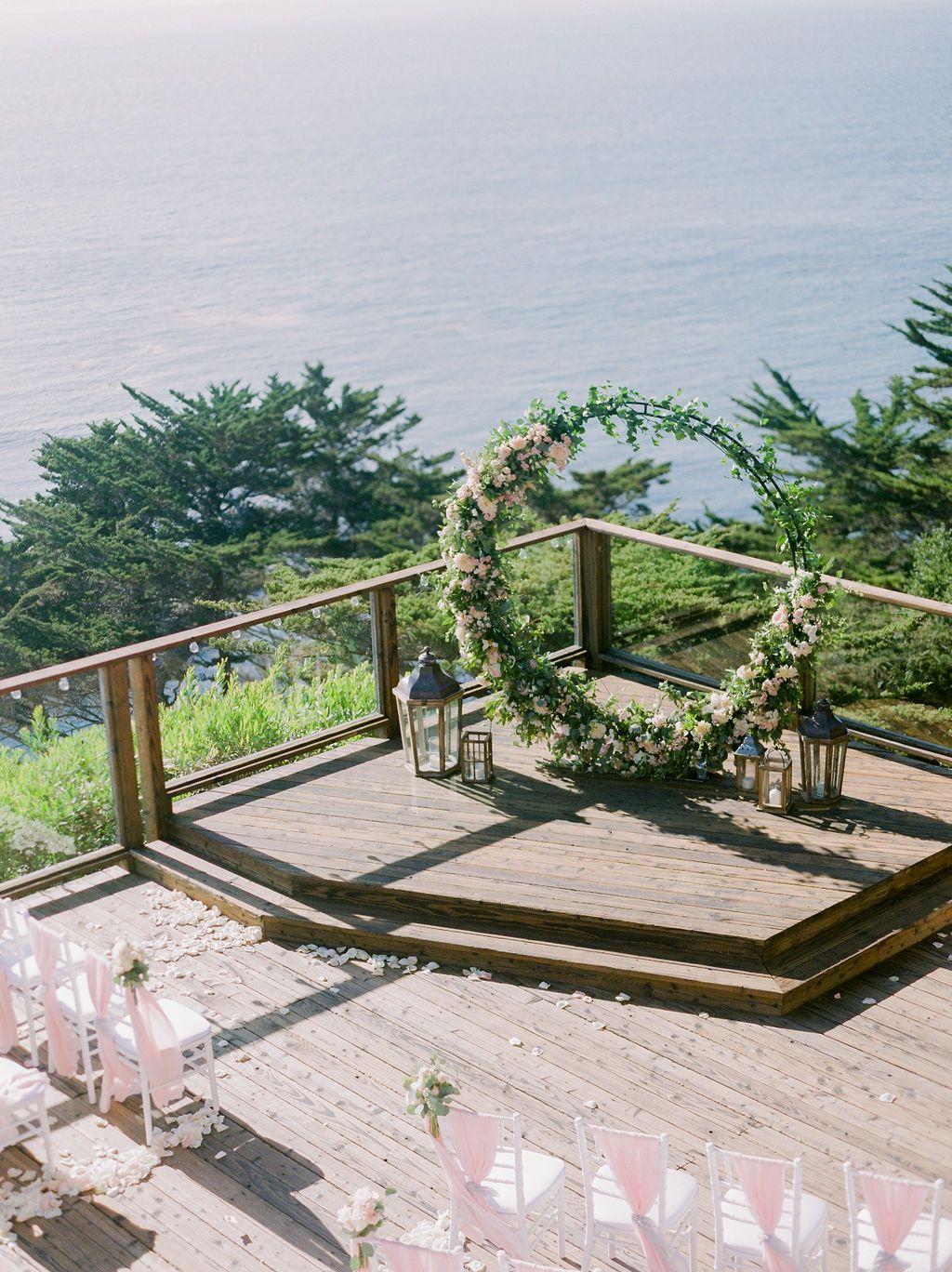 Wedding Ceremony Site At Hyatt Carmel Highlands Event Planning Styling Design Manna Sun Events Photographe Wedding Ceremony Sites Event Planning Event
