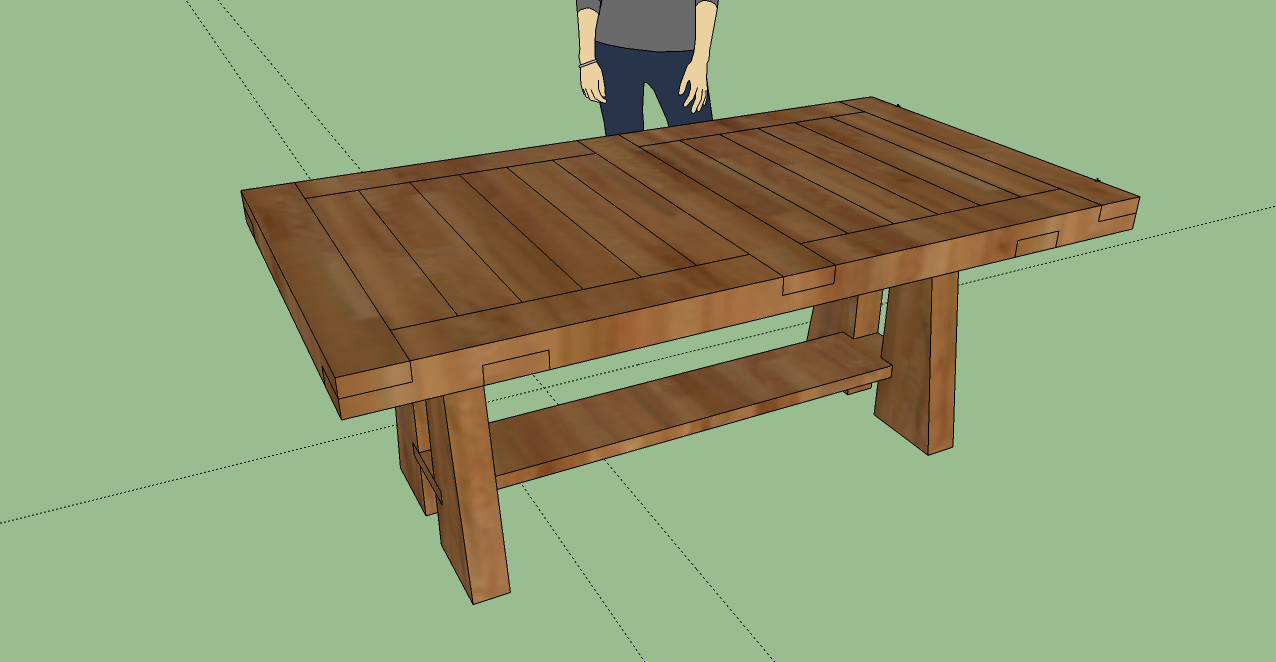 Diy Kitchen Table 3d Model Of Dining Table With Sketchup Tables I Might Build