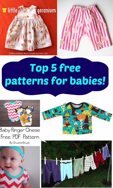 Free Sewing Patterns for Boys and Girls!: Top 5 Free baby patterns ...