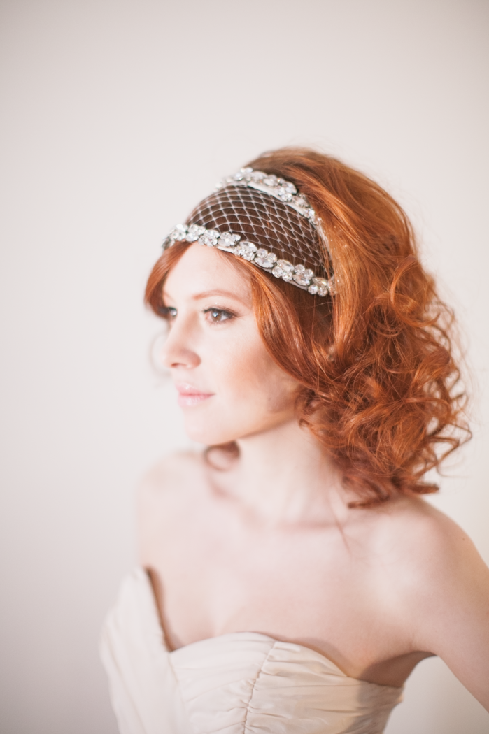 pretty wedding details gatsby headpiece makeup hair nyc photographer photography wedding  Martina Micko | Photographer