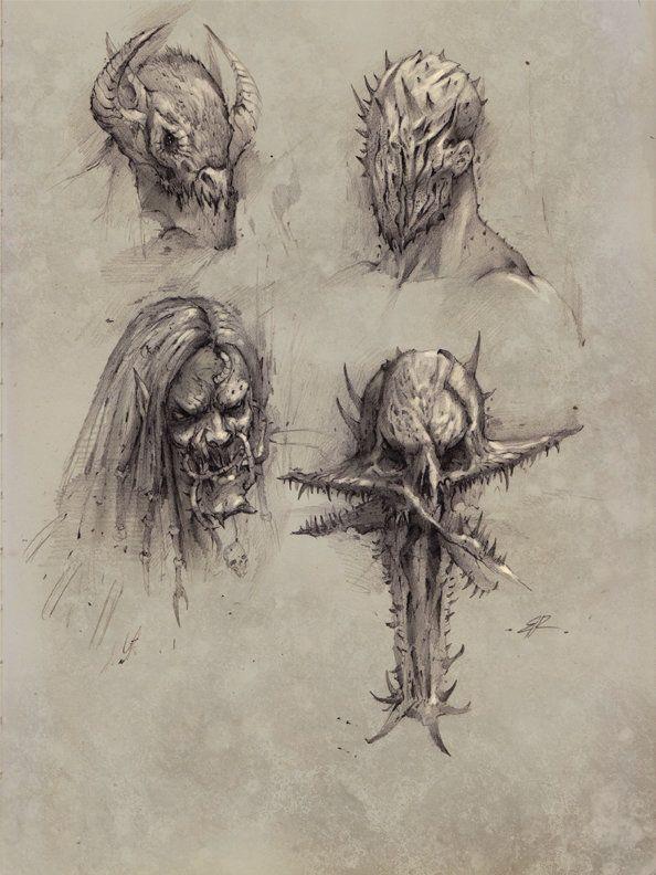 Faces Of The Underworld Part One Bobby Rebholz Creature Concept Art Creature Art Monster Art