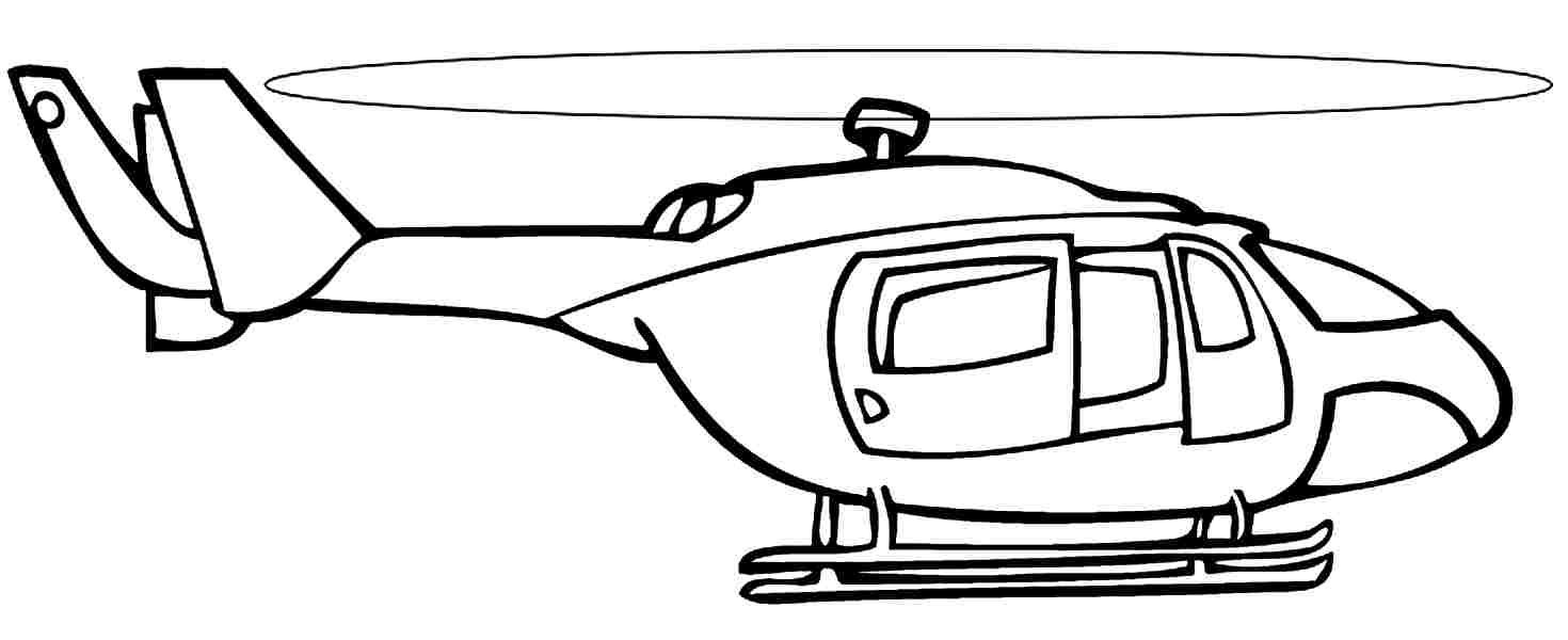 helicopters with a modern shape helicopters coloring pages