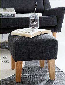 eigentlich ein kleiner hocker aber mit einem tablett wird schnell ein kleiner beistelltisch. Black Bedroom Furniture Sets. Home Design Ideas