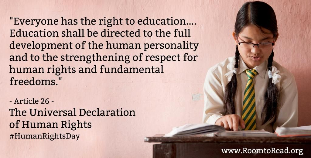 Room To Read On Twitter Right To Education Declaration Of Human Rights Literacy Quotes