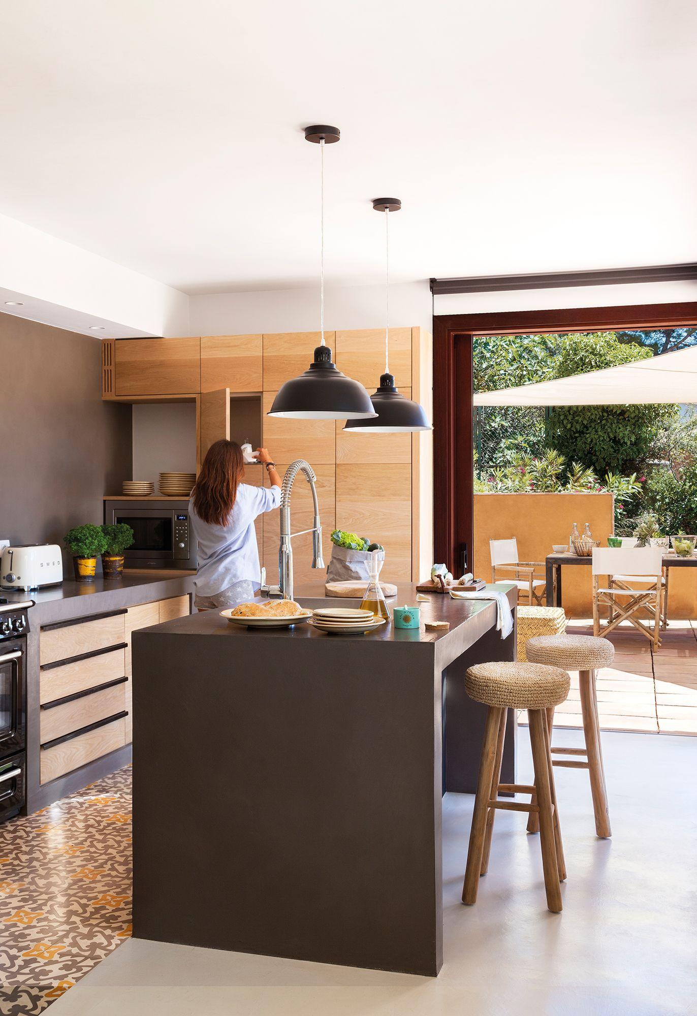Pin en cocinas campo - Encimera de madera para cocina ...
