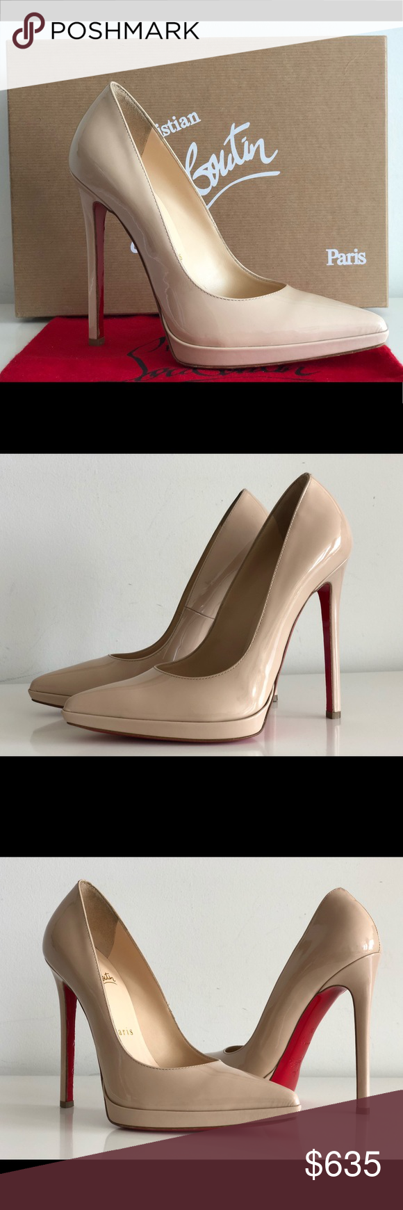 b5b2e911ebba Spotted while shopping on Poshmark  CHRISTIAN LOUBOUTIN PIGALLE PLATO 120  NUDE PATENT!  poshmark  fashion  shopping  style  Christian Louboutin  Shoes