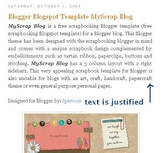 How to Justify and Align Blog Posts