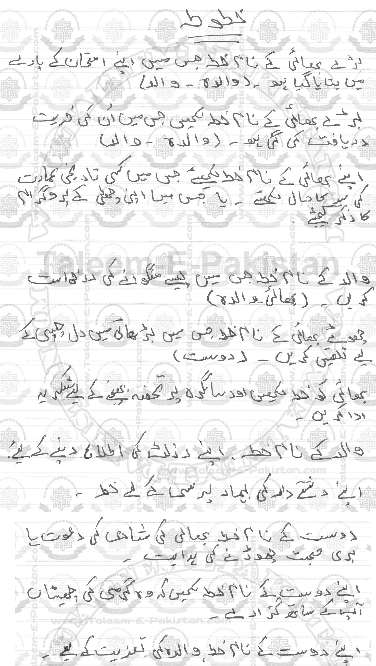 9th Class Urdu Compulsory Guess Paper 2017 Urdu Lettering Guess
