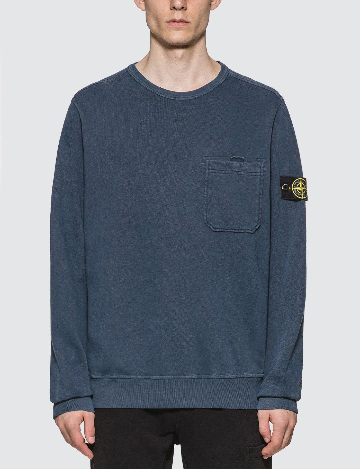 Stone Island Pocket Sweatshirt Hbx Pocket Sweatshirt Sweatshirts Long Sleeve Tshirt Men