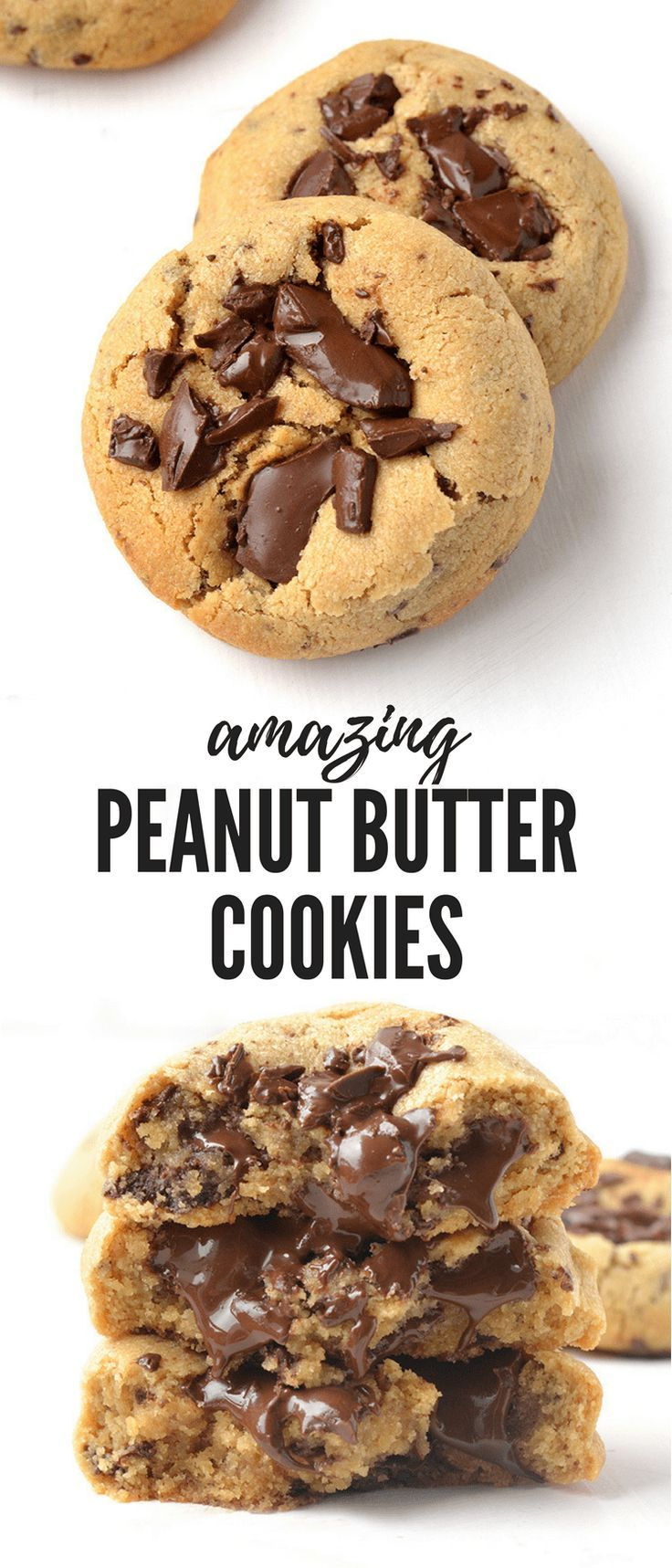 Peanut Butter Chocolate Chip Cookies #peanutbuttersquares