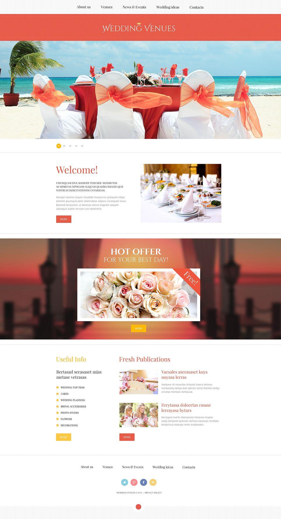 Wedding Planner Responsive Website Template 47801 Event Planning Website Wedding Planner Website Wedding Planning Websites