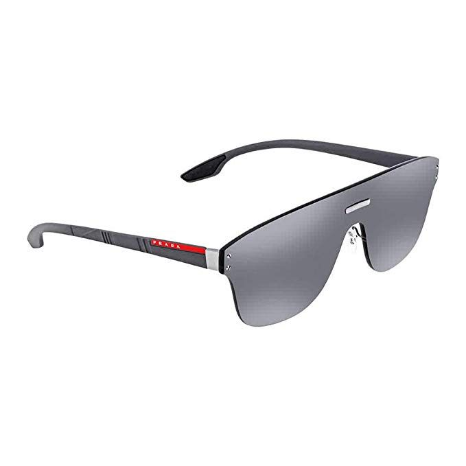 8cd4f5a1fa Prada Linea Rossa Men s 0PS 57TS Gunmetal Grey Rubber Grey Mirror Silver  One Size