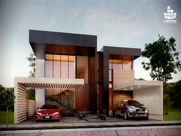 Casa residencial en colima colima residential for Arquitectura moderna casas pequenas