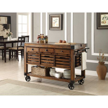 kitchen server maple table simple relax 1perfectchoice kaif industrial cart cabinet wooden basket slatted shelf distress kitchencabinets
