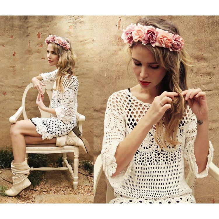 Hand Knit Delicacy of Crochet Dress AU$57.39