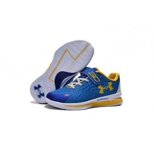 Under Armour Curry 1 Low - Boys' Preschool Royal Blue/White Basketball Shoes  Stores