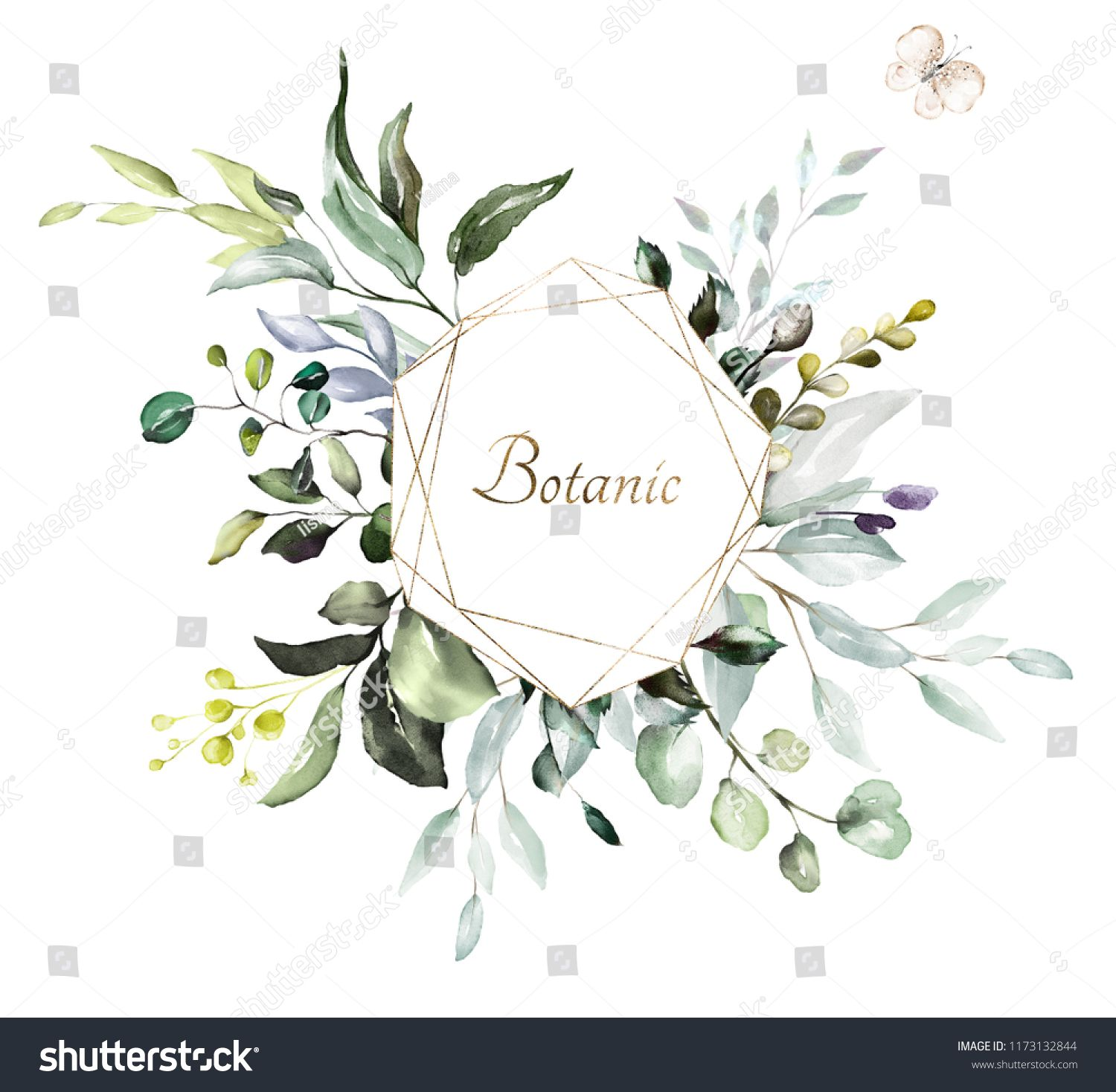 Botanical Design Herbal Banners On White Background For Wedding Invitation Business Products Web Banner With Leaves Herbswhite Background Wedding Banners