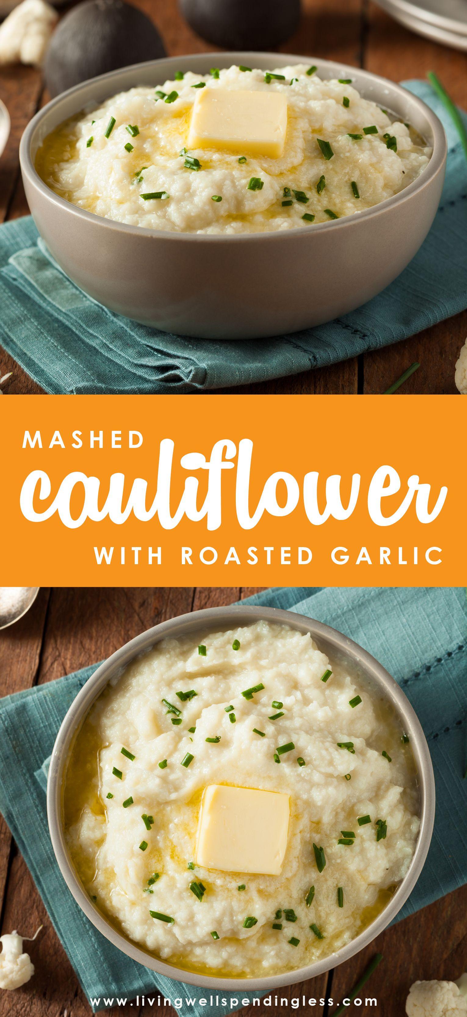 Mashed Cauliflower with Roasted Garlic images