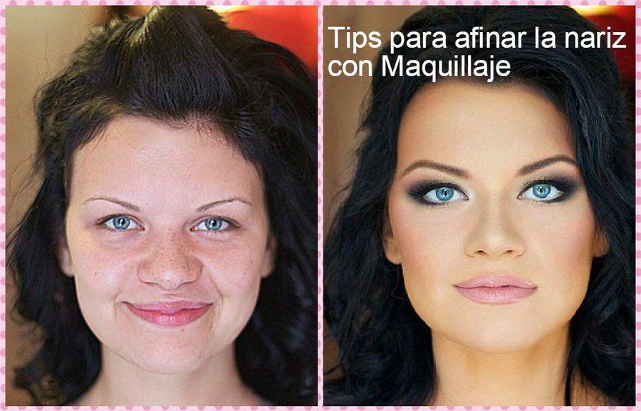 Maquillaje para adelgazar la cara antes y despues maquillaje