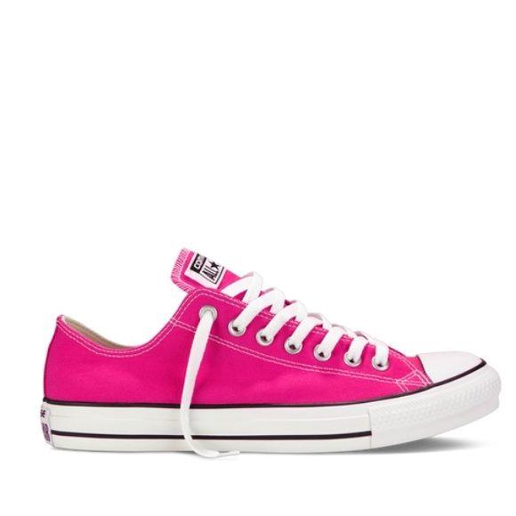 Hot Pink Converse   Converse wedding shoes, Converse, Pink