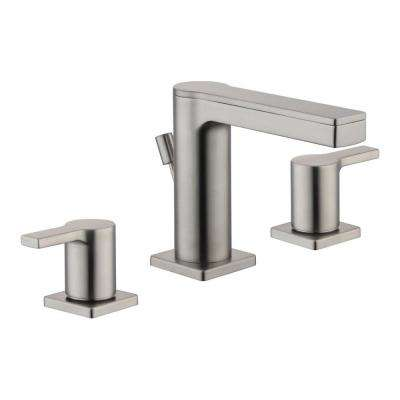 Low Arc Nickel Lever 100 150 Widespread Bathroom Sink