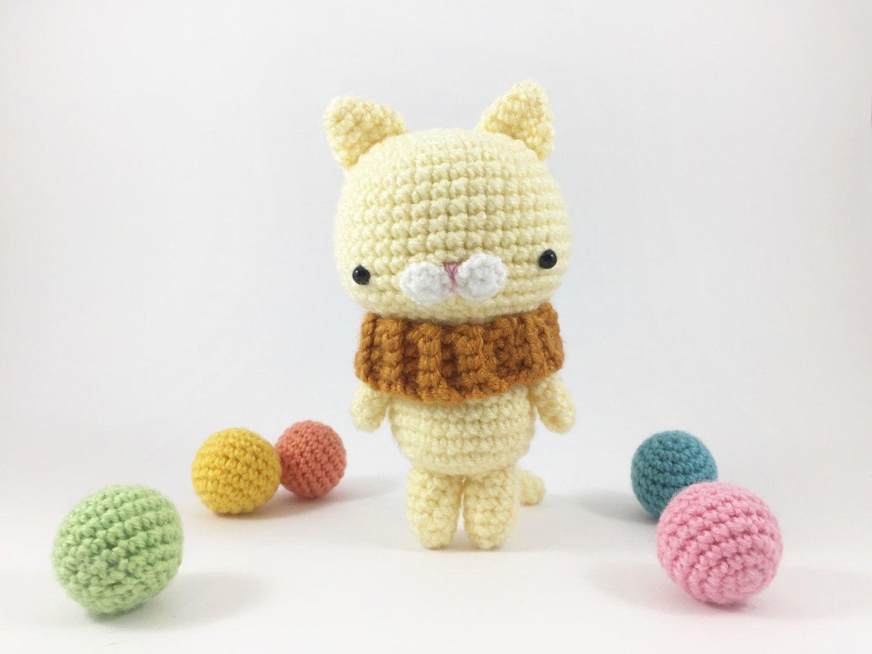 Amigurumi Cat Doll : Crochet cat amigurumi cat crochet kitty doll plush cat softie