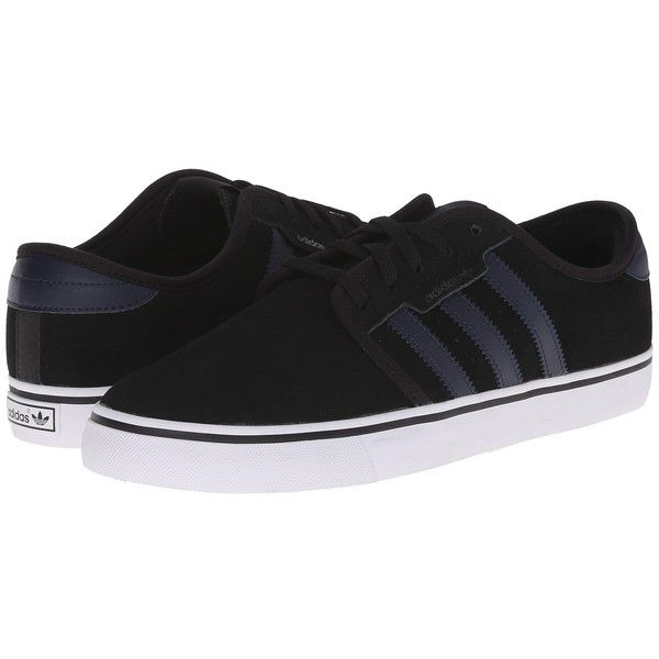 adidas Skateboarding Seeley (Black/Collegiate Navy/White) Men's Skate...  ($53) ❤ liked on Polyvore featuring men's fashion, men's shoes, men's  sneakers, ...