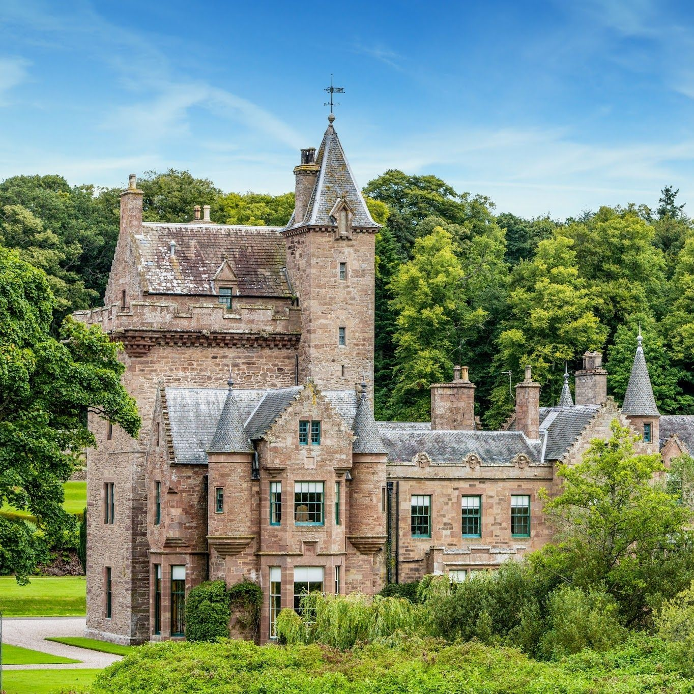 Guthrie Castle Is A Castle And Country House In Angus Scotland