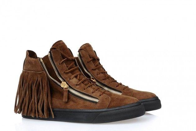 "Giuseppe Zanotti ""Maxi Fringe"" Sneakers"