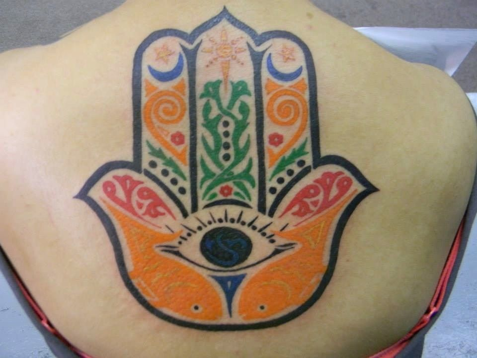 Hamsa Hand Place Addiction Tattoos And Body Piercings Yakima Wa Usa Artist