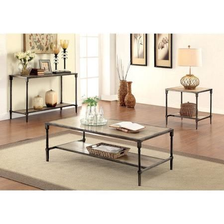 Fine Hokku Designs Leons Coffee Table Set Walmart Com Knock Home Interior And Landscaping Ponolsignezvosmurscom