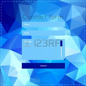 Graphic Design Template With Blue Polygonal Background With