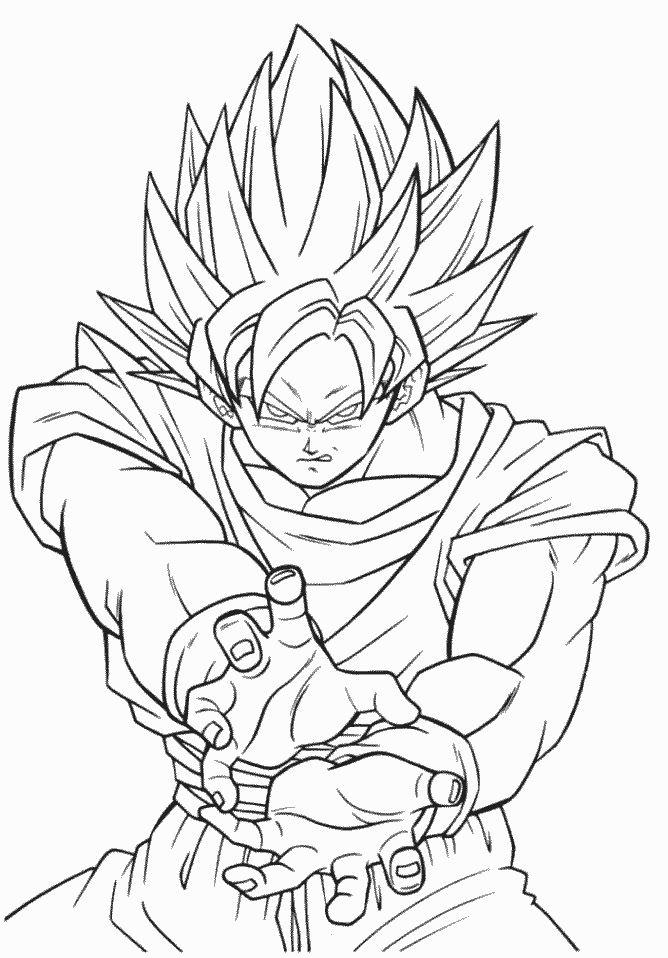 Ultra Instinct Goku Kamehameha Coloring Pages