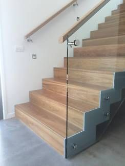 Architectural Stairs , Dual Steel Stringer Designer Staircases | Building  Materials | Gumtree Australia Gold Coast