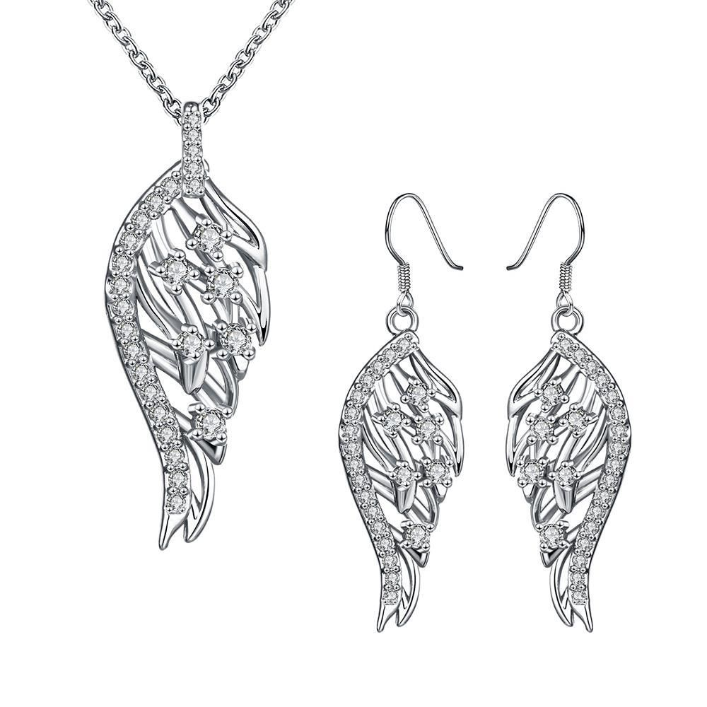 Sc fashion environmental alloy anti allergy zircon jewelry set