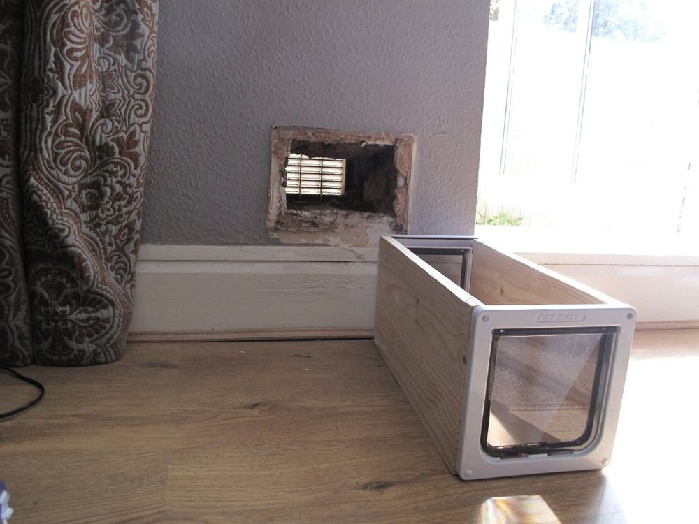 How To Make A Cat Flap In A Wall Cat Door Pinterest Cat Walls