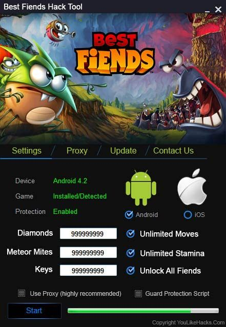 Best Fiends Hack Cheat Tool Unlimited Diamonds Unlimited Gold