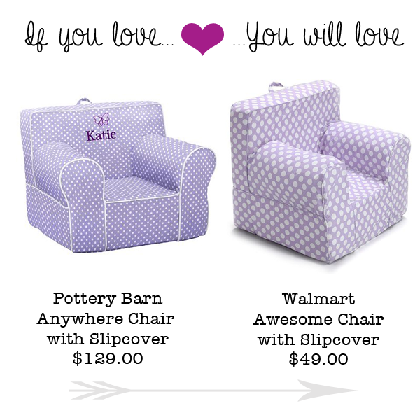 pottery barn anywhere chair cover shrunk foot covers for wood floors if you love s kids will walmart those super cute bean bag chairs over at are going to this deal i found on a knock off