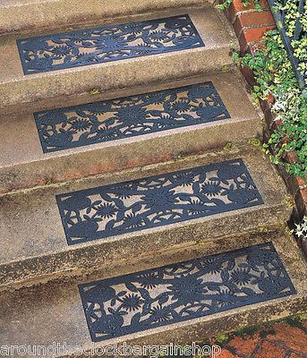 Best Set Of 4 Decorative Slip Free Outdoor Rubber Stair Treads 640 x 480
